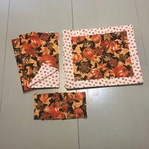 Fall Autumn Placemats Napkins Coasters Matching